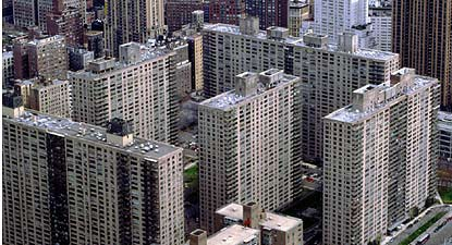 Lincoln Towers is on Manhattan's west side offering luxury apartments.